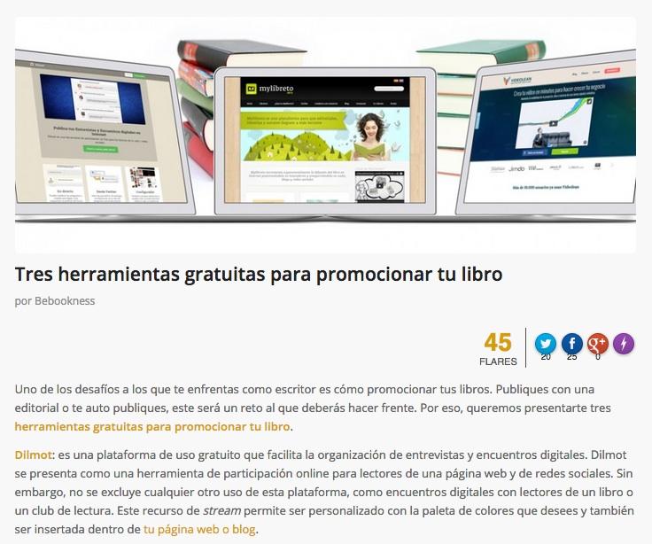 Dilmot como herramienta para la promoción de libros