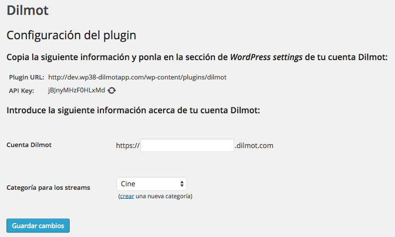 Plugin de Dilmot para realizar encuentros digitales en WordPress