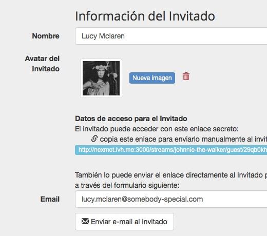 Enviar información al invitado del encuentro digital Dilmot