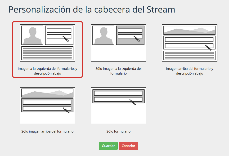 Personaliza la cabecera del encuentro digital insertado en tu web