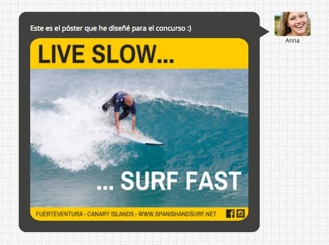 En la página pública del encuentro digital, se muestra la imagen dentro del bocadillo de respuesta