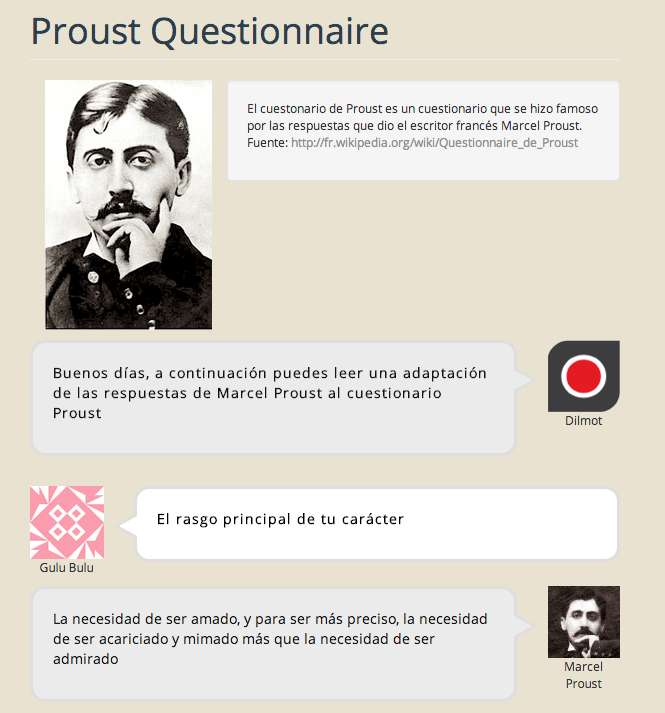 El cuestionario de Proust, respondido por él mismo, producido con dilmot.com