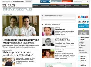 Encuentros digitales en El País