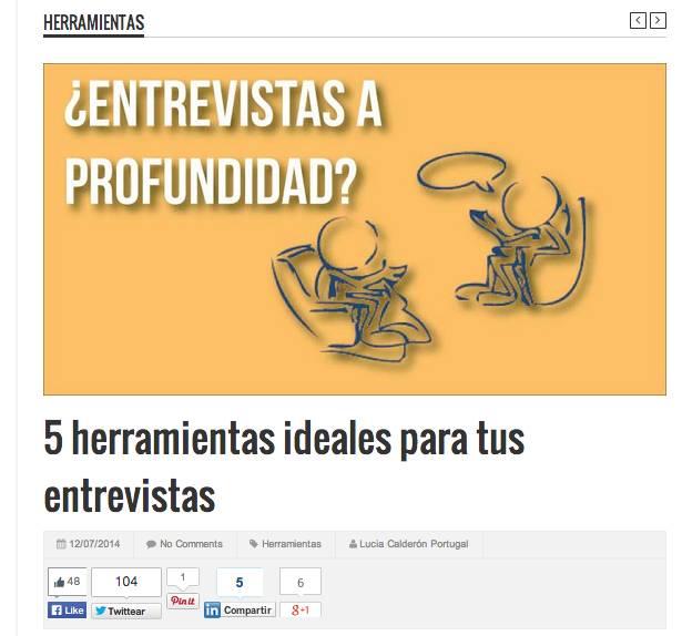 Herramientas para periodistas digitales que desean publicar entrevistas