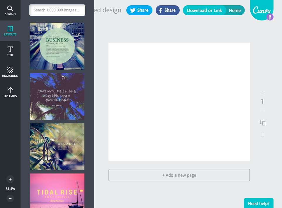 Select the Canva template you would like to base your stream image on