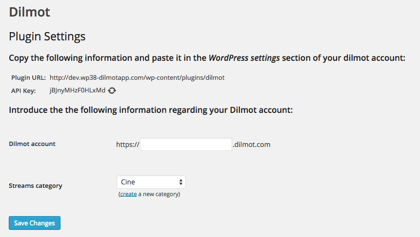 WordPress plugin to make live Q&A chats with Dilmot