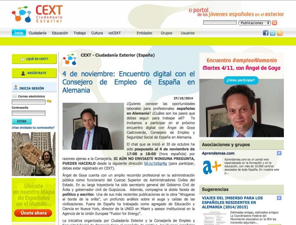 Encuentro digital sobre el empleo en Alemania, organizado por el CEXT