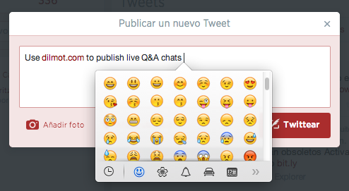 Use Emoji emoticons in Twitter Desktop